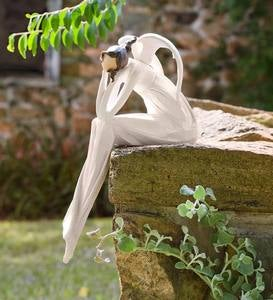 Thinking Angel Indoor/Outdoor Wall or Shelf Sculpture