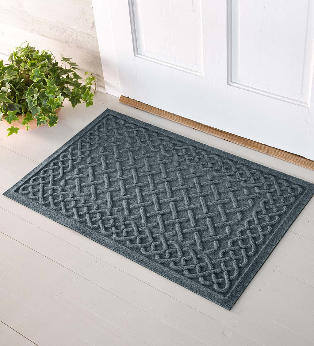 Waterhog Cable Weave Doormat, 3' x 7' - Bluestone