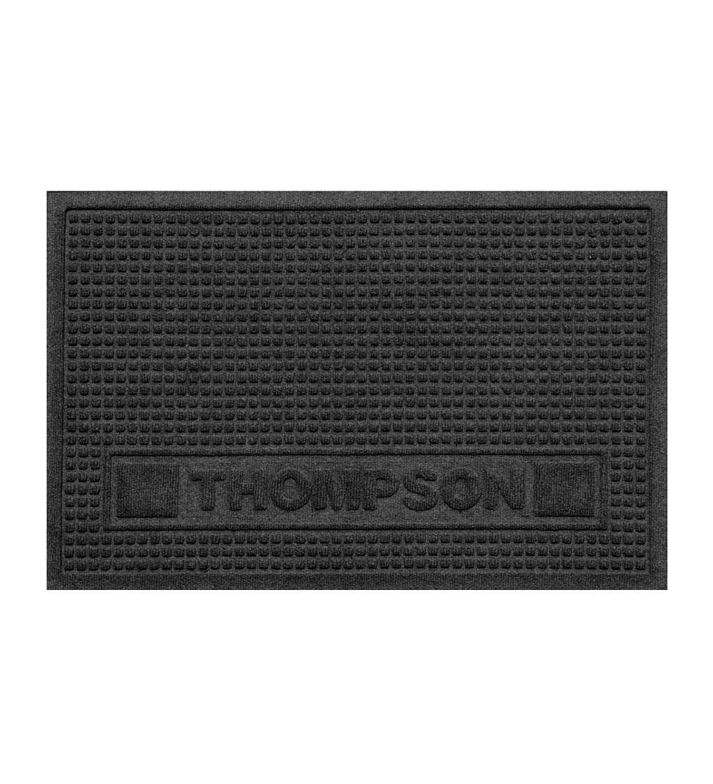 Personalized Waterhog Squares Pet Doormat, 2' x 3' - Charcoal