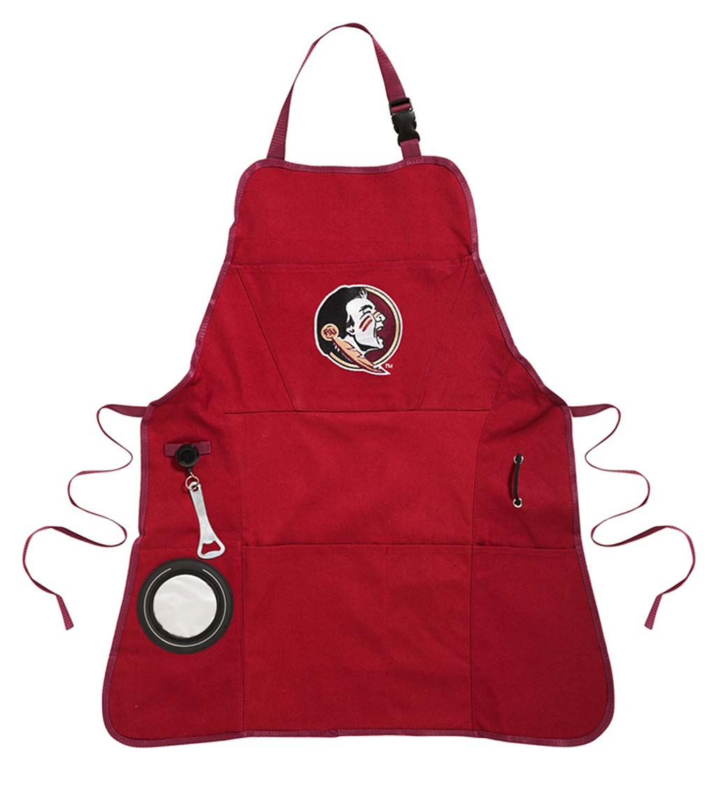 Deluxe Cotton Canvas College Team Pride Grilling/Cooking Apron - Iowa State