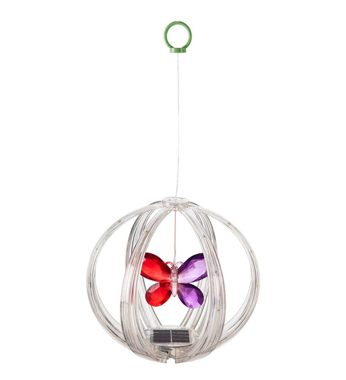 Solar Color Chasing Lighted Sphere Mobile - Butterfly