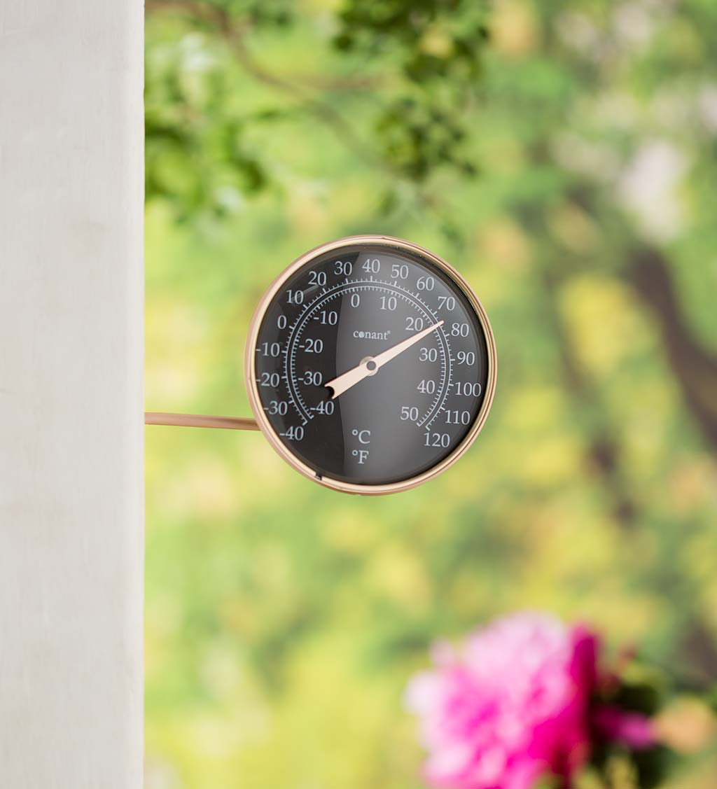 Round Analog Wall-Mount Dial Thermometer on Swivel Arm