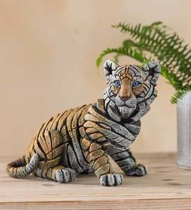 Cast Marble Tiger Cub Sculpture