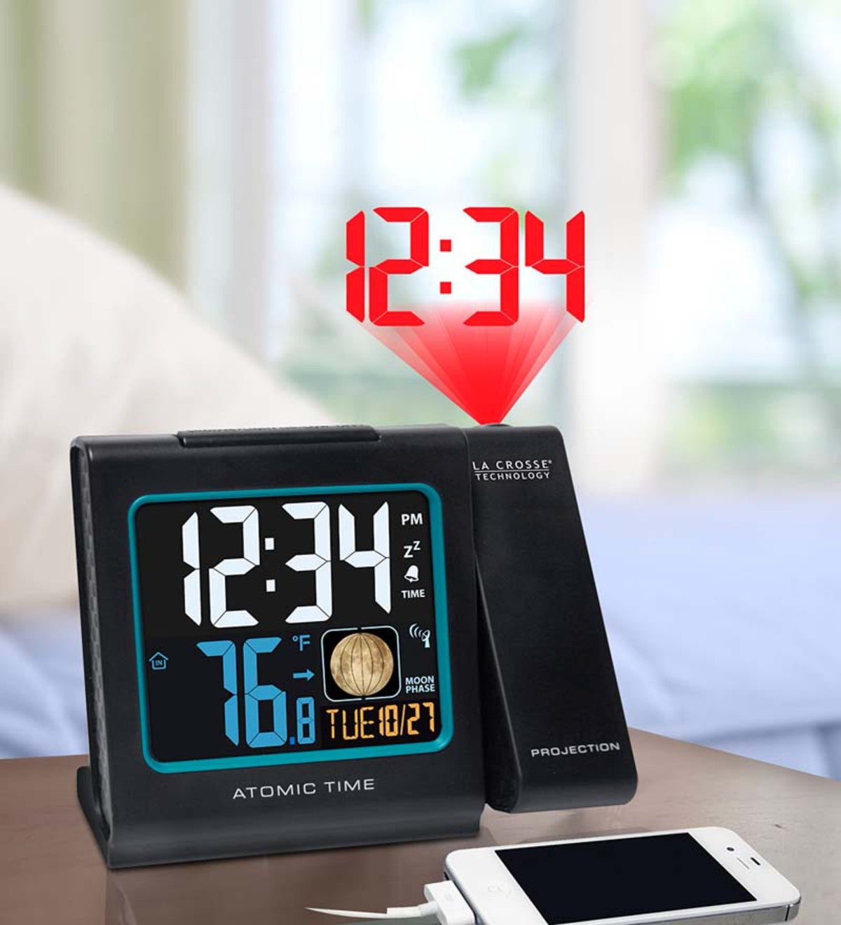 how to set la crosse technology projection clock