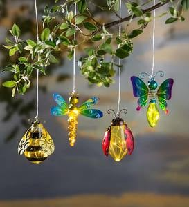 Metal and Glass Solar Insect Light