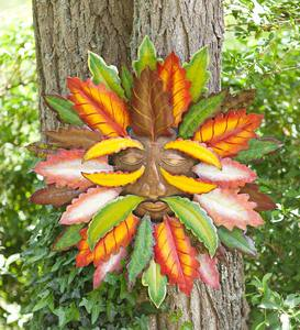 Fall Green Man Metal Wall Art