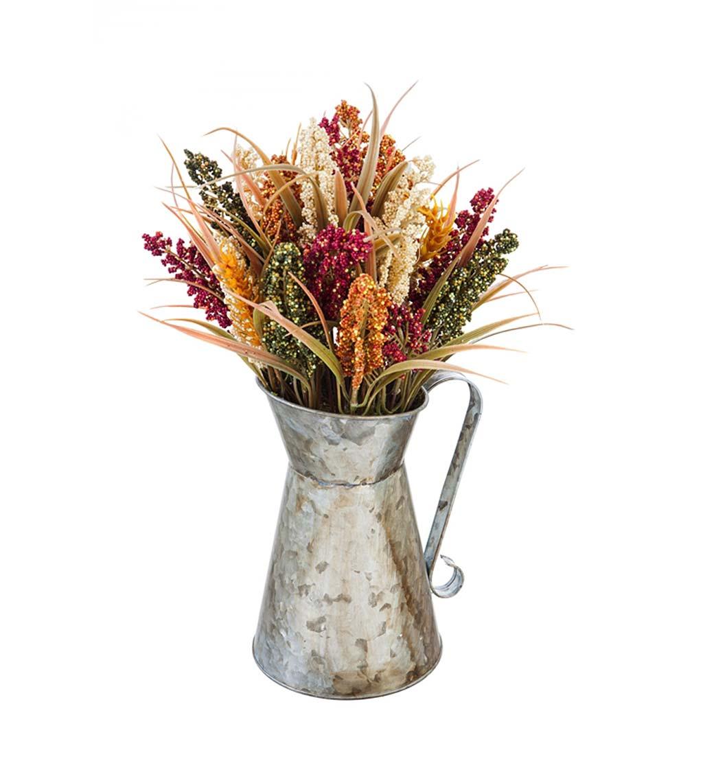 Hanging or Sitting Bud Vase in Galvanized Holder