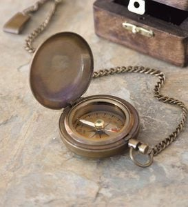 Antique Brass Compass