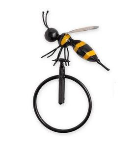 Medium Metal Bee on Unicycle Wall Art