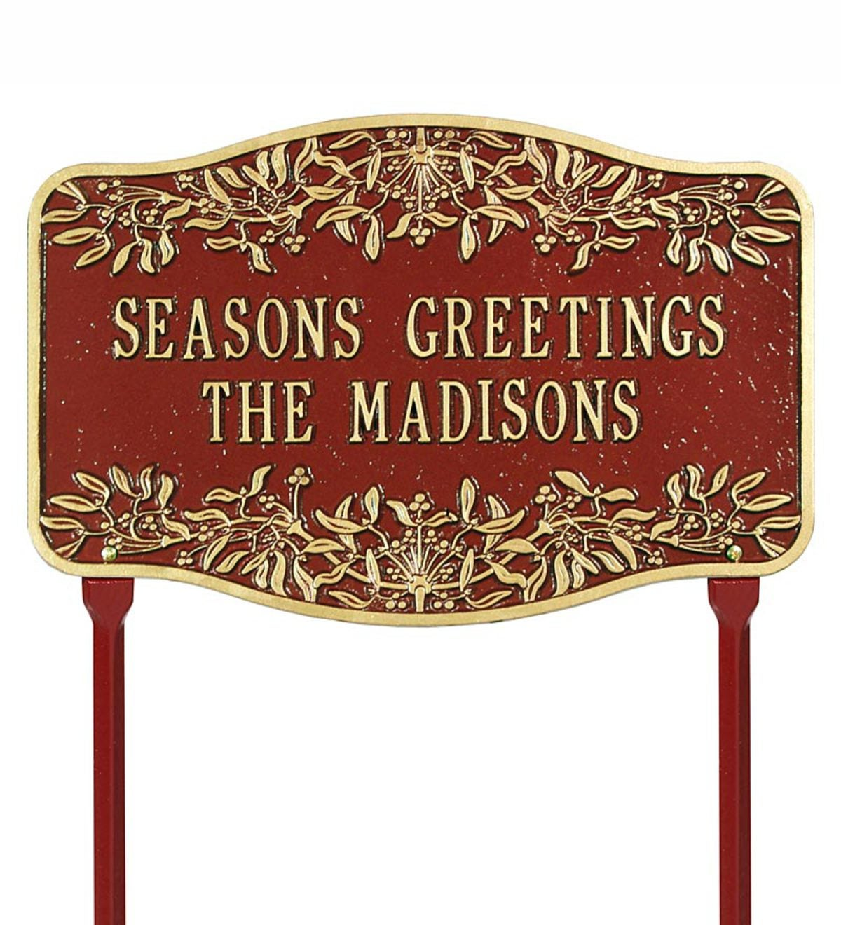 Personalized Mistletoe Holiday Welcome Sign