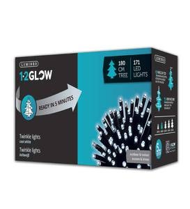 Glow Light Cluster Holiday String Lights, 5'9