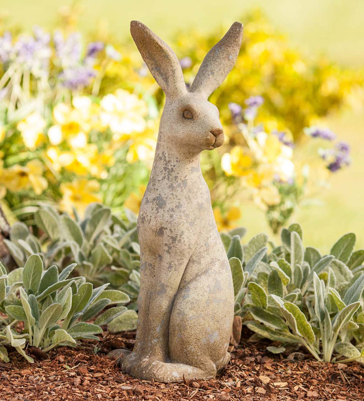 Tall Sitting Bunny Sculpture
