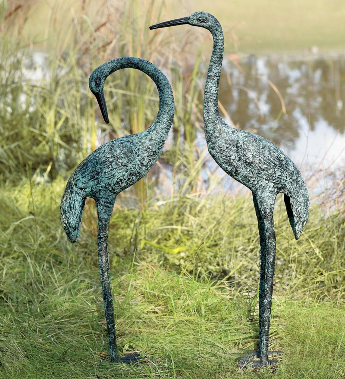 Garden Cranes, set of 2 - Garden Art