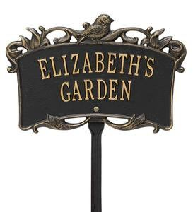 Personalized Bird Garden Plaque