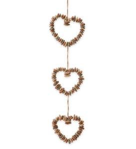 Hanging Rock Heart Wreath Trio