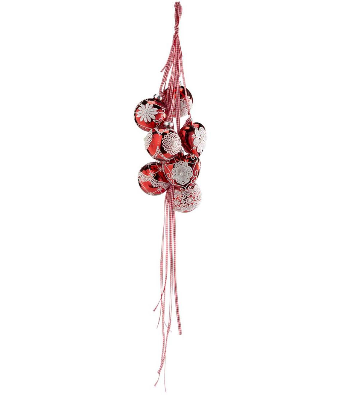 Ribbons and Ornaments Decoration - Red
