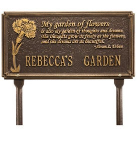 Custom Poem Plaque - Bronze