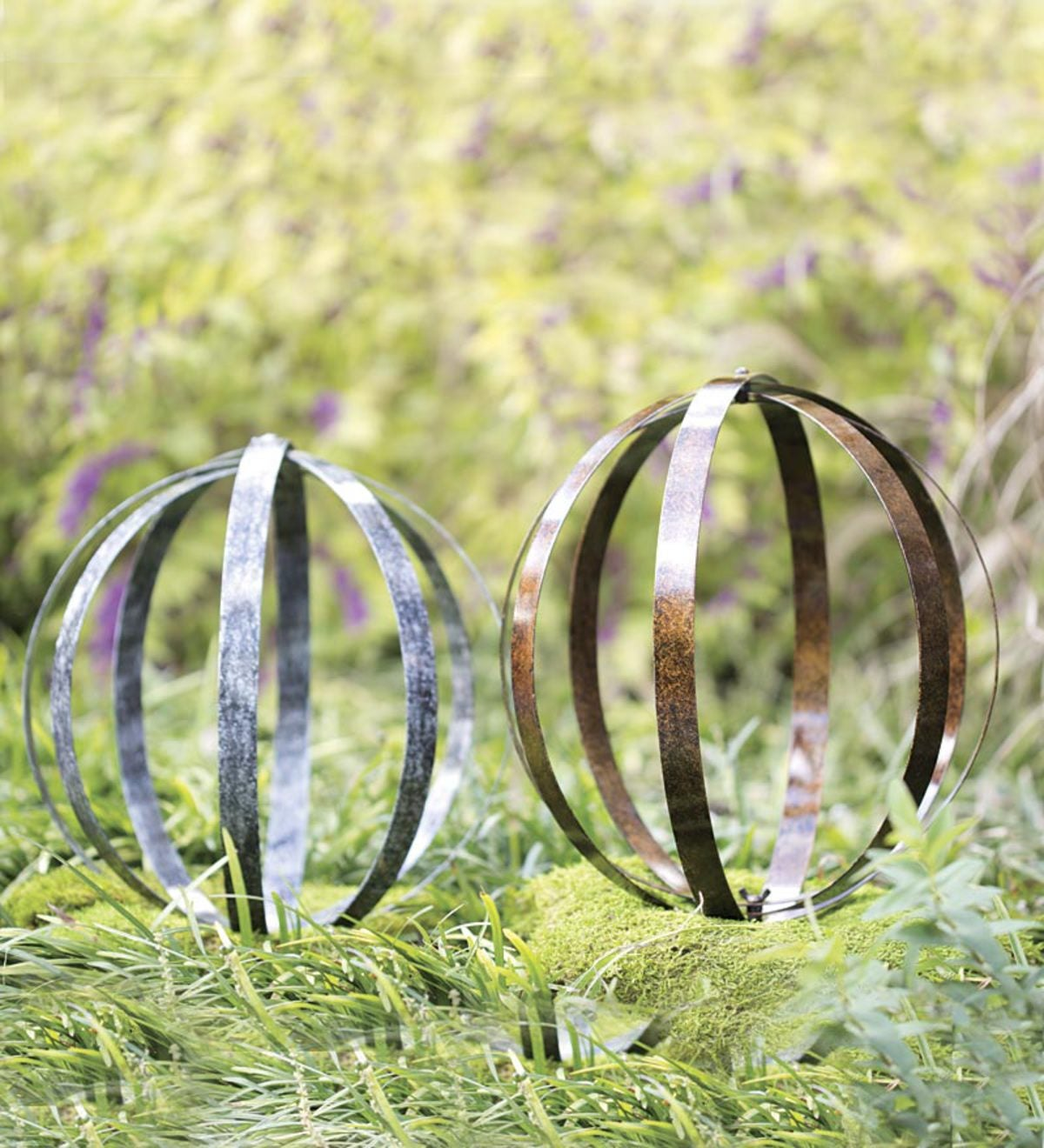 Orb Metal Yard Sculptures, Set of 2 | Wind and Weather