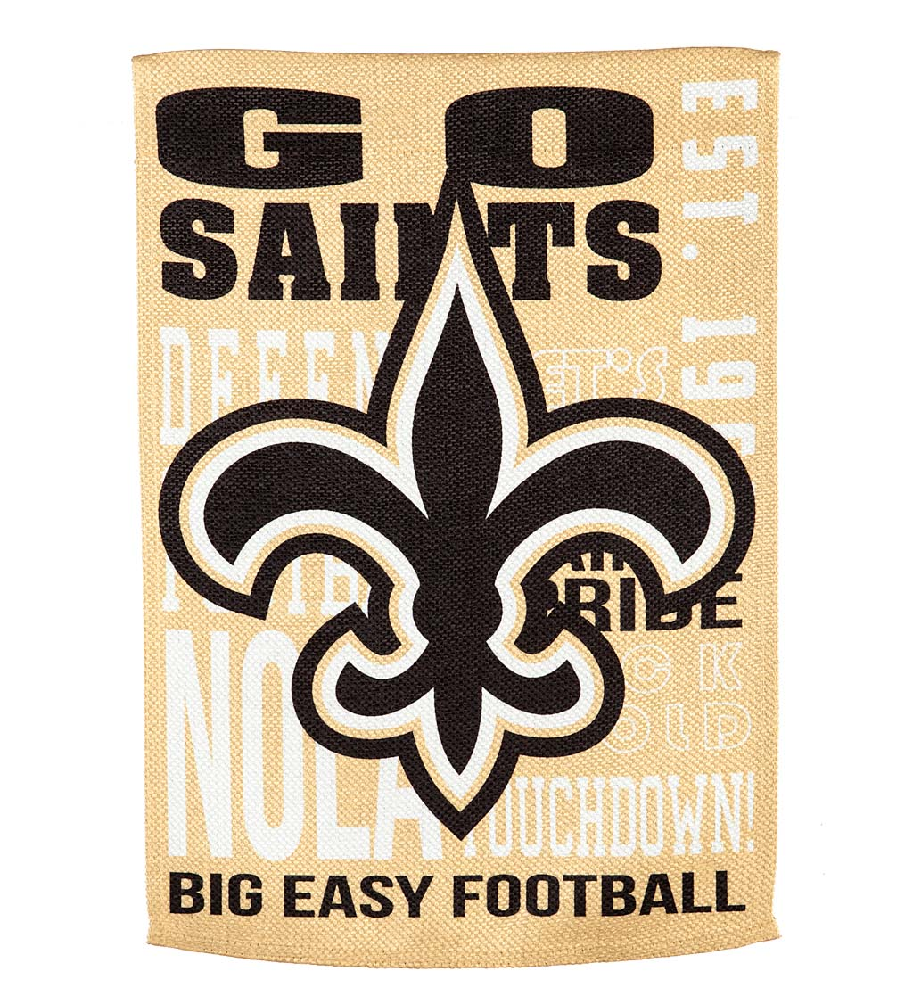Double-Sided Fan Rules NFL Team Pride Sueded House Flag - New Orleans Saints