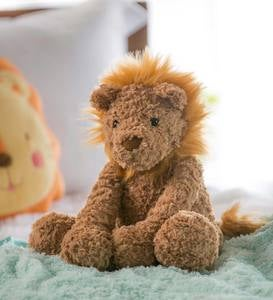 Little Warrior Lion Plush, Sitting