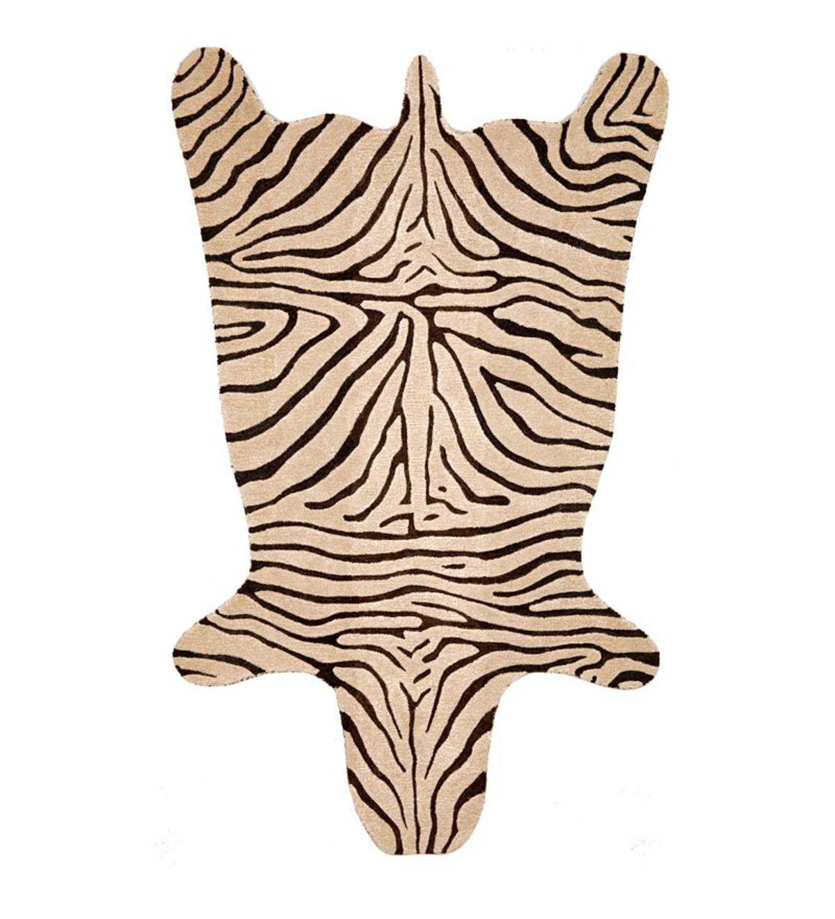 8 W X 10 L Indoor Faux Zebra Skin Rug