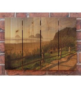 Handcrafted Coastal Stroll Wall Art by Gizaun Art™