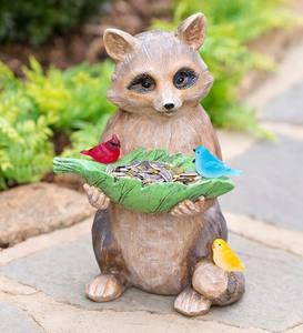 Wall bird seed feeder stone garden ornamentMany more ornaments in my shop!