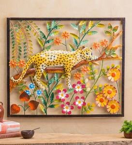 Handcrafted Metal Leopard Wall Art