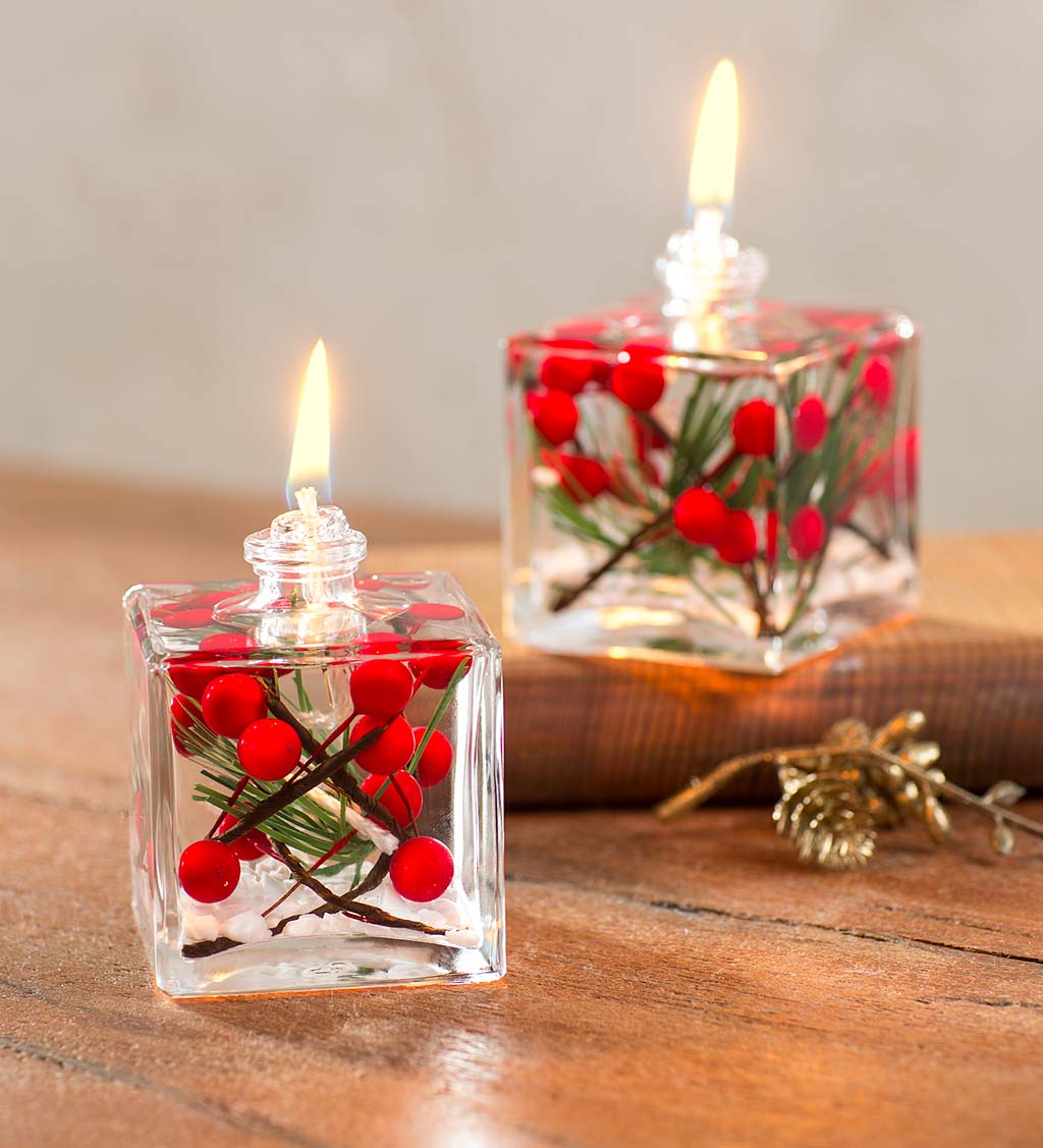 Berries Cube Oil Candle - White