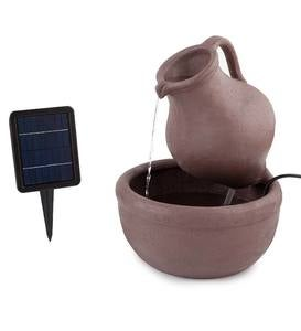 Solar Pitcher and Bowl Fountain