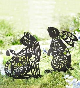 Metal Animal Silhouette Garden Stake