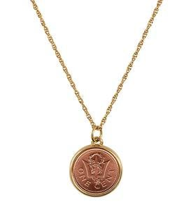 Trident Coin Necklace