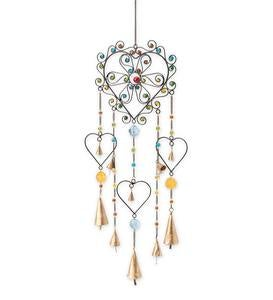 Colorful Heart Wind Chime
