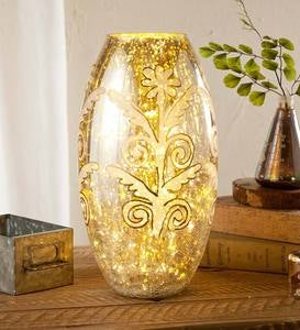 Hand-Painted Mercury Glass Vase