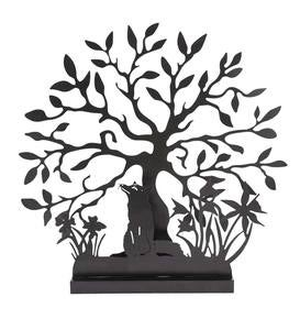 Fox and Tree Metal Garden Silhouette