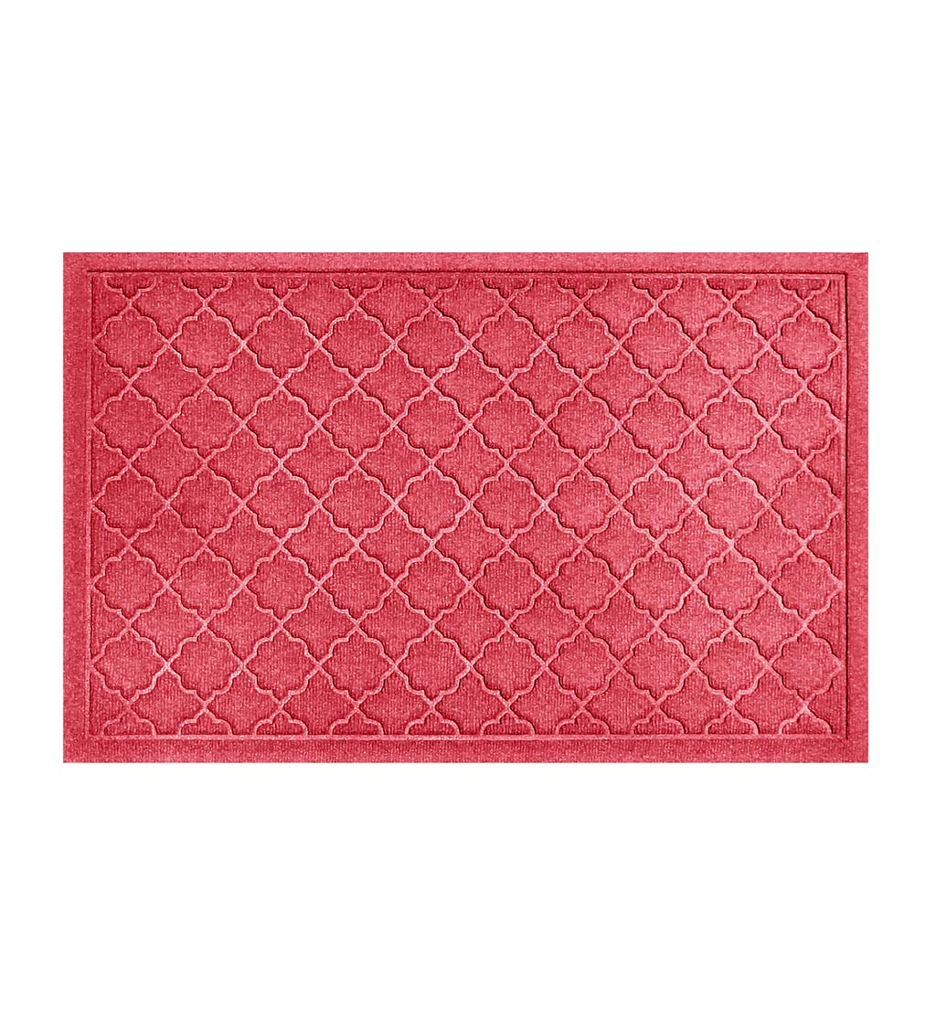Waterhog Indoor/Outdoor Geometric Doormat, 4' x 6' - Red