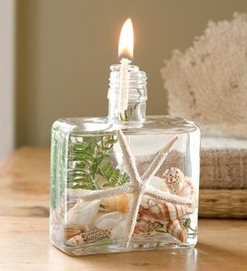 Square Seashell Lifetime Oil Candle