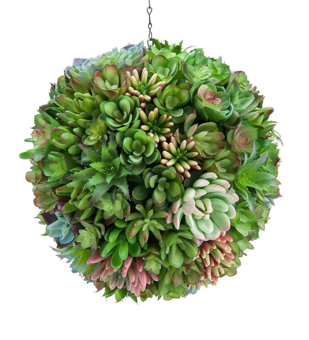 Faux Succulent Hanging Orb