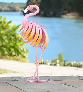 Metal Flamingo Sculpture