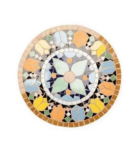 Ceramic and Cast Stone Decorative Mosaic Garden Stones