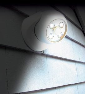 Battery-Powered Motion-Activated Anywhere Light - Dark Bronze