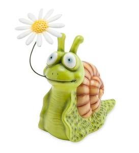 Snail with Flower Garden Sculpture
