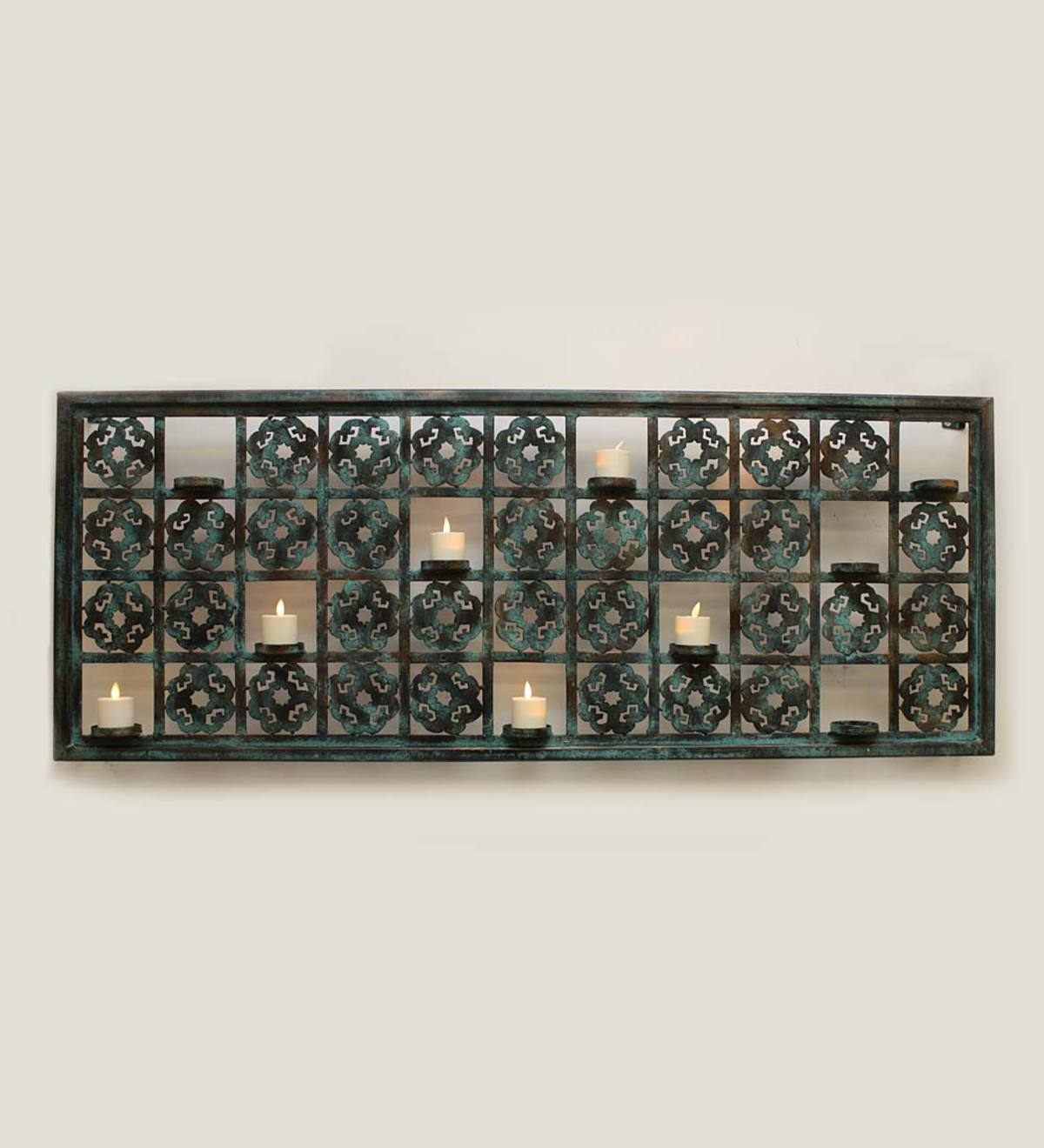 Aged Iron Votive Holder Wall Accent