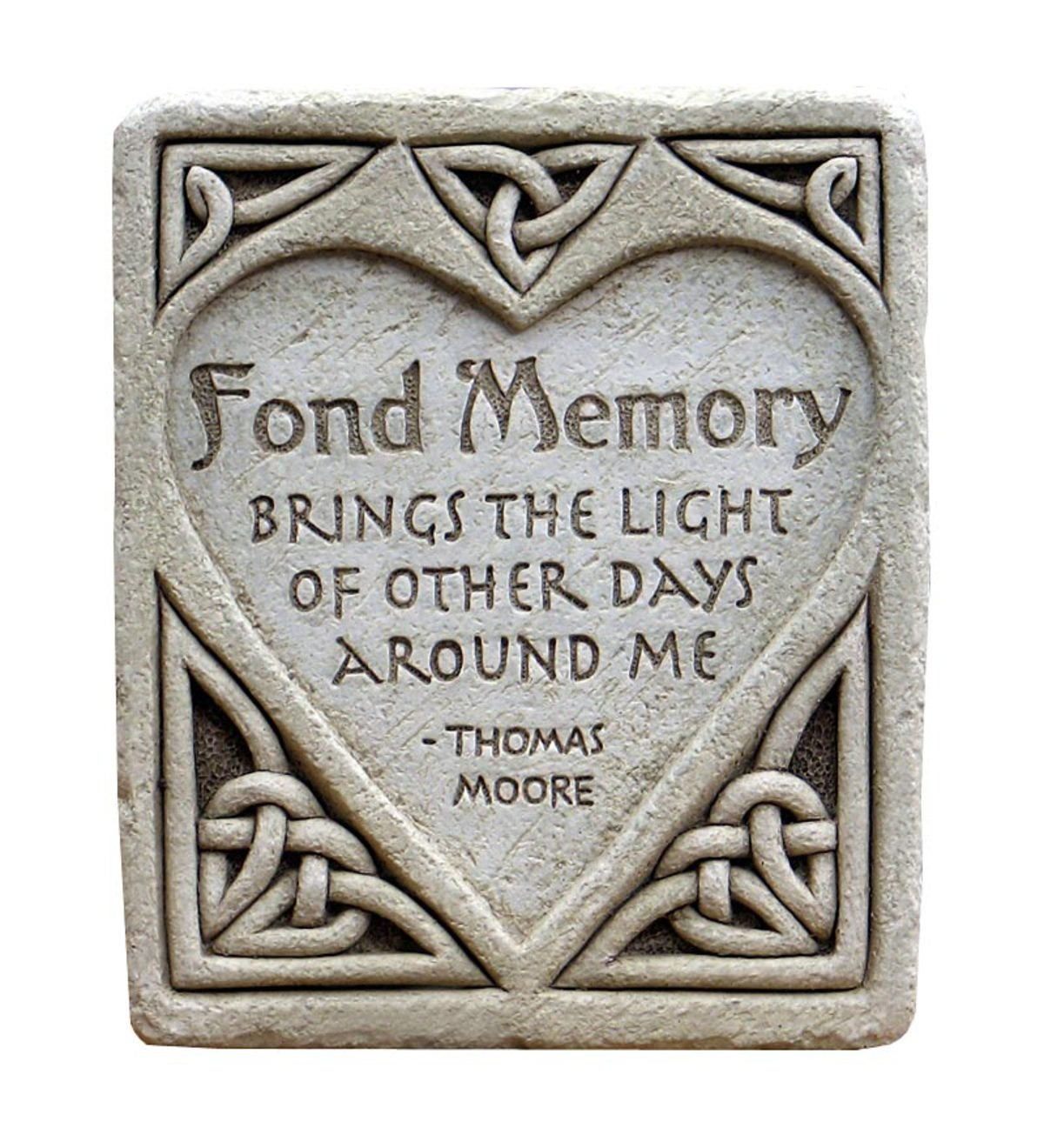 Fond Memory Hand Cast Stone Plaque by Carruth Studio