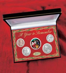 Colorized Santa Claus Half Dollar Coin Set