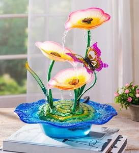Pink Lily Tabletop Fountain