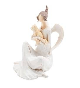 Seated Angel with Cat Indoor/Outdoor Holiday Sculpture