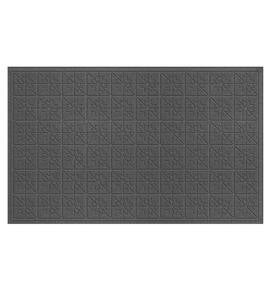 Waterhog™ Doormat with Star Quilt Pattern - Charcoal