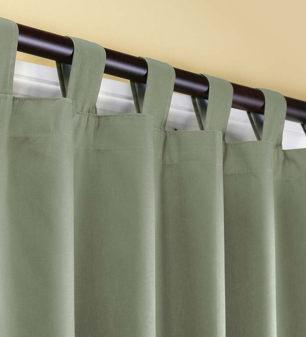 "54""L Thermalogic Energy Efficient Insulated Solid Tab-Top Curtain Pair - White"