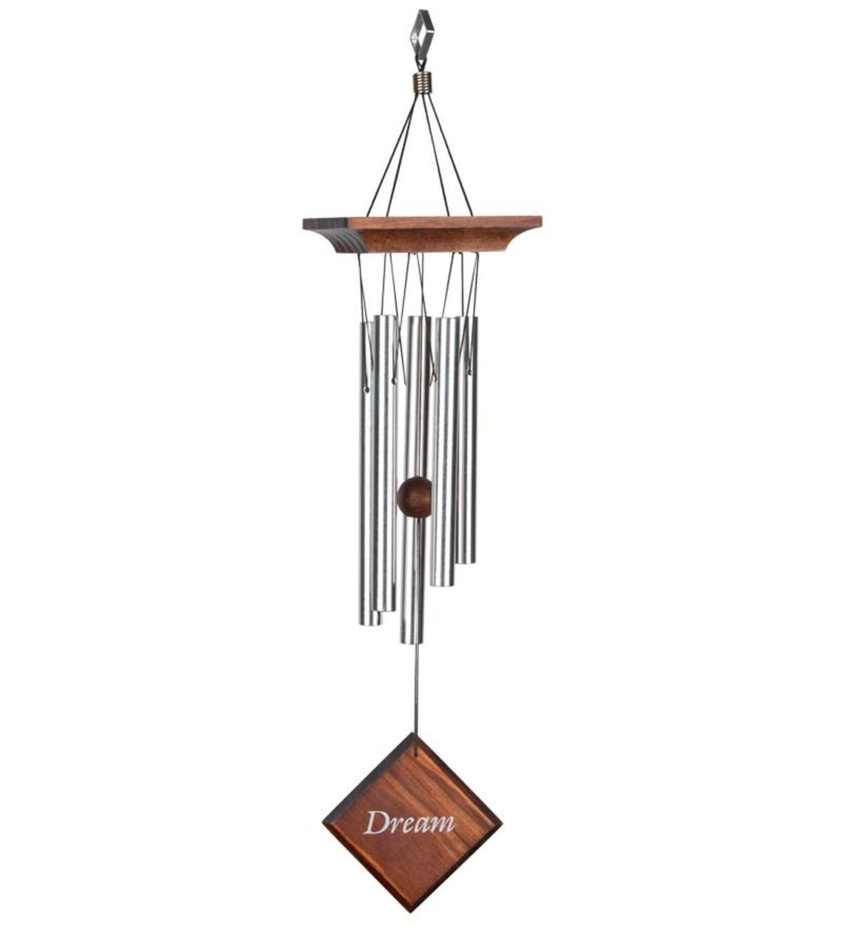 Sentiments Wind Chimes With Silk-Screened Wind Catchers